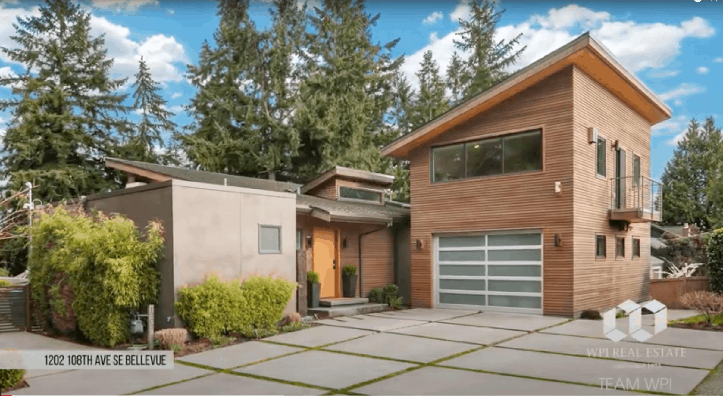 Contemporary home in Bellevue